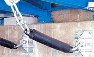 衝撃緩和が可能なチェーンタイプの落橋防止装置
