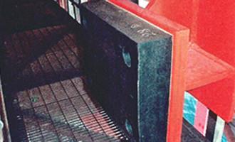 落橋防止壁用・桁間衝突用の衝撃緩和材