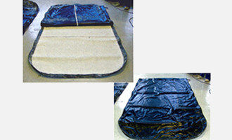 合わせ硝子の減圧成型用真空袋