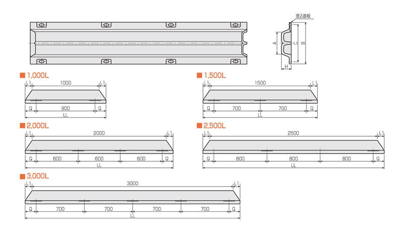 SWK-S型防舷材 形状・寸法