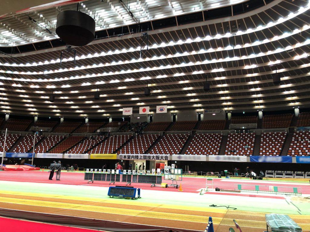 試合会場の大阪城ホール